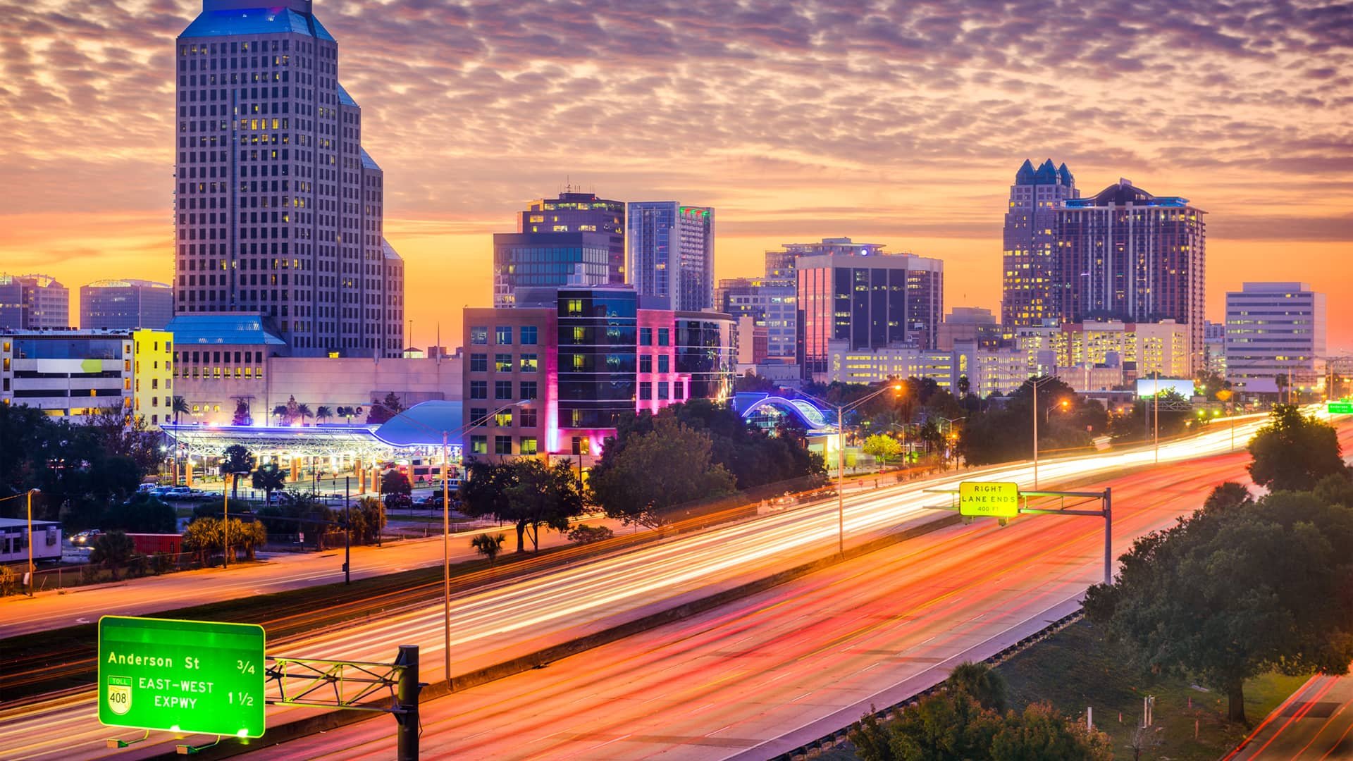 Picture Of Downtown Orlando At Dusk